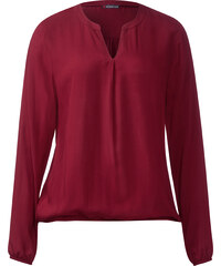 Street One Bluse mit Gummibund Idwina - vintage red, Damen