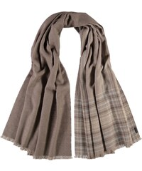 FRAAS Double-Face Stola mit Karomuster in taupe