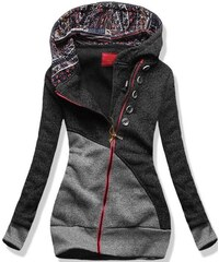 Sweatjacke grafit grau D081WE