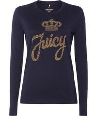 Juicy Couture Longsleeve mit Logo aus Nietenbesatz