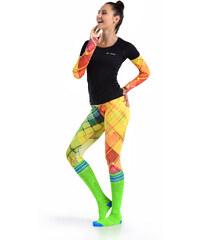 Nessi Krátké Běžecké/Fitness Legíny 01 - Colored net Velikost: S/M