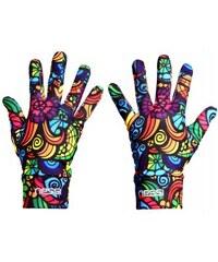 Nessi Běžecké rukavice PRO Warm AR-04 - Colored mosaic III Velikost: XL