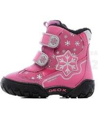 Geox Dívčí zateplené kotníkové boty B Gulp B Girl Abx - růžové