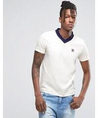 Fila - T-shirt col V - Gris
