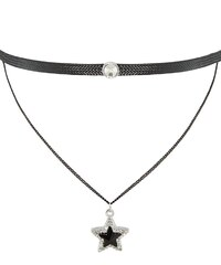 sweet deluxe Collier black/silvercoloured