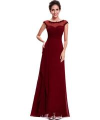 Ever Pretty vínové šaty -skladem
