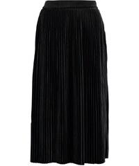 Vila VIVELVETINE Jupe plissée black