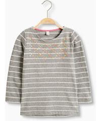 Esprit T-shirt rayé manches longues rivets colorés