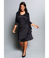 Společenské šaty pro plnoštíhlé, M.I.M., večerní šaty v nadměrné velikosti (vel.54 skladem) 54 černá Dopravné zdarma!