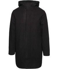 Revolution Černá pánská dlouhá bunda s kapucí RVLT