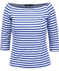 Modro-bílé pruhované tričko s odhalenými rameny Dolly & Dotty Gloria