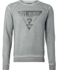 Guess Sweatshirt mit Logo-Flockprint