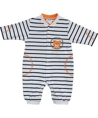 Schnizler Unisex Baby Schlafstrampler Schlafanzug Nicki Teddybär Gestreift