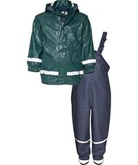 Playshoes Kinder Matschanzug, Regenanzug Ornament, Reflektoren, Abnehmbare Kapuze