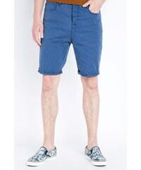 Bermuda homme coloris uni revers Bleu Coton - Homme Taille 34 - Bonobo