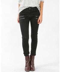 Jean skinny zippé noir, Femme, Taille 36 -PIMKIE- MODE FEMME