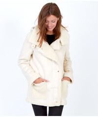 Manteau bi-matière, doublé mouton Etam