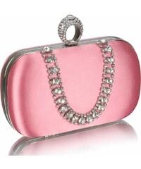LS Fashion společenská kabelka LS0225 růžová