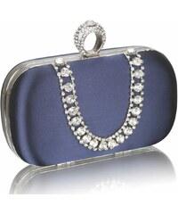 LS Fashion společenská kabelka LS0225 modrá