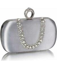 LS Fashion společenská kabelka LS0225 stříbrná