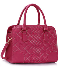 LS Fashion Kabelka LS00316 Vintage růžová