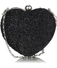 LS Fashion společenská kabelka LS0263 černá
