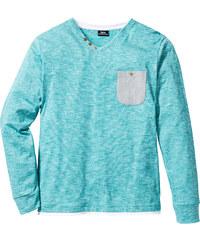 bpc bonprix collection T-shirt manches longues encolure en V Regular Fit vert homme - bonprix
