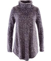 bpc bonprix collection Pull poncho manches longues violet femme - bonprix