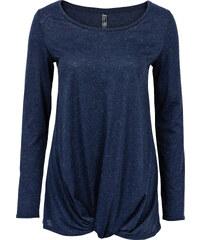 RAINBOW T-shirt en maille avec nœud bleu manches longues femme - bonprix