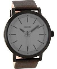 Oozoo XL Damenuhr Braun/Grau 48 mm C8254