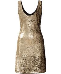 BODYFLIRT Pailletten-Kleid ohne Ärmel in gold von bonprix