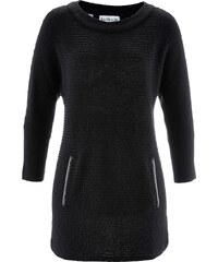 bpc bonprix collection Struktur-Pullover mit 3/4-Ärmeln - designt von Maite Kelly 3/4 Arm in schwarz für Damen von bonprix