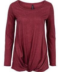 RAINBOW Strickshirt, geknotet langarm in rot für Damen von bonprix