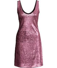 BODYFLIRT Pailletten-Kleid ohne Ärmel in rosa von bonprix
