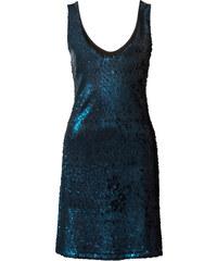 BODYFLIRT Pailletten-Kleid ohne Ärmel in petrol von bonprix