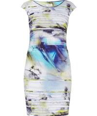 Apanage Kleid mit Streifen- und Aquarellmuster
