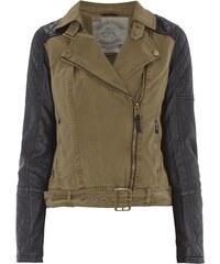khujo Biker-Jacke mit Ärmeln in Leder-Optik