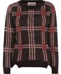 Rich & Royal Strickpullover mit Mohair-Anteil und Tartan-Muster