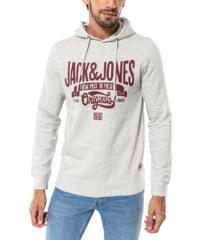 Jack & Jones Sweat Sweat Break Hood Gris Et Rouge Homme
