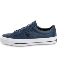 Converse Baskets/Tennis One Star Leather Bleu Marine Homme