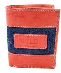 Always Wild Pánská kožená peněženka lososová