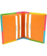 Golunski Kožené pouzdro na kreditní karty a vizitky oranžové
