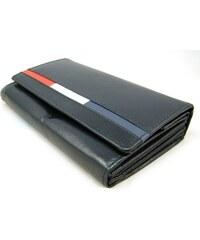 Loren Černá dámská kožená peněženka s pruhem