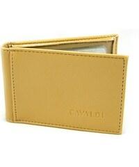 Cavaldi Žluté pouzdro na vizitky nebo karty