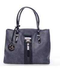 MC Mary Dámská luxusní kabelka přes rameno Sarah, modrá