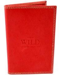 Always Wild Červená kožená dokladovka