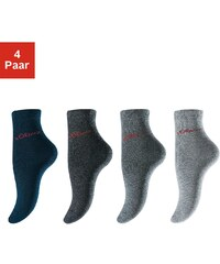 Große Größen: s.Oliver RED LABEL Bodywear Basic-Socken (4 Paar) Made in Germany, 4x Grautöne, Gr.27-30-39-42