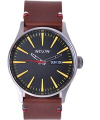 Hodinky Nixon Sentry Leather black brown