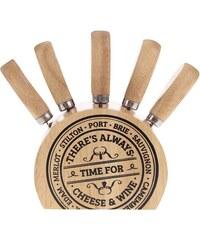 Set nožů na sýry ve dřevěném stojánku CGB