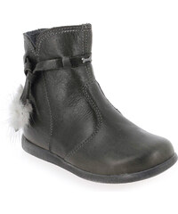 Boots Enfant fille Stones and Bones en Cuir Gris